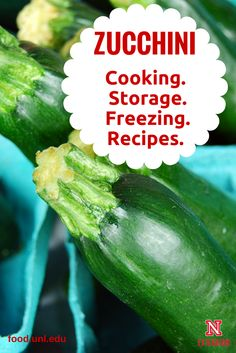 Zucchini recipes, cooking tips and freezing information. #NebExt