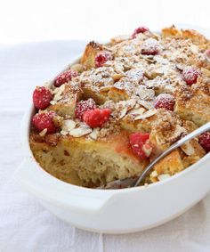 Baked Raspberry Almond French Toast Bake
