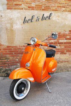 Vespa super 125 orange pearl http://www.shutterstock.com/?rid=1525961