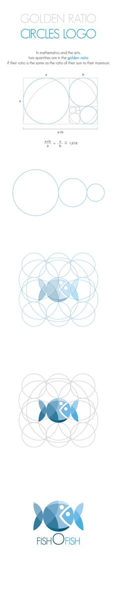 GOLDEN RATIO - CIRCLES LOGO by Andrea Banchini, via Behance.