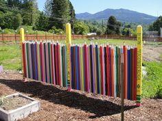 Colored Pencil Fence in Children's garden, Concrete, WA.