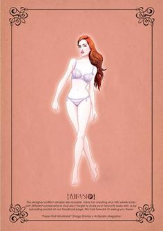 paper doll by Antipasto. Include her clothes