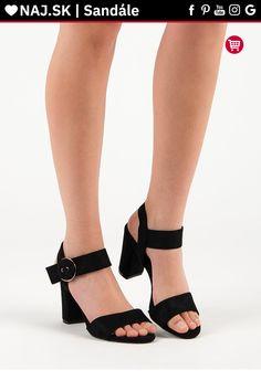 066ac6983b61 Čierne sandále na stĺpiku Vinceza