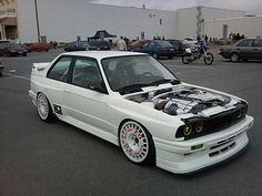 OZ Rally Wheels on Flared BMW E30
