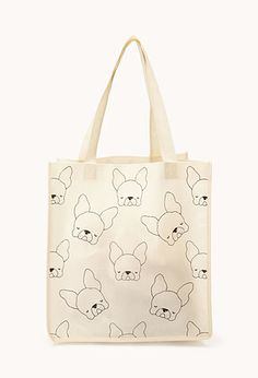French Bulldog Shopper Tote | FOREVER21 - 1000125815