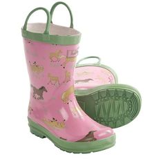 Hatley Rubber Boots - Waterproof (For Kids) in Running Horses  (mike I'm getting these)
