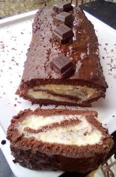 Ρολό παντεσπάνι σοκολάτας με γέμιση !!!! ~ ΜΑΓΕΙΡΙΚΗ ΚΑΙ ΣΥΝΤΑΓΕΣ 2 Something Sweet, Confectionery, Tiramisu, Sweets, Snacks, Cookies, Chocolate, Cake, Ethnic Recipes