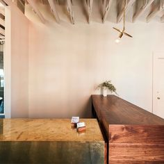 The First Ward - Tulsa Hair Salon by Workstead Wood Interiors, Commercial Design, Contemporary Ceiling Light, Concrete Wood, Ceiling Fixtures, Modern Light Fixtures, Edison House, Brass Pendant, Bathroom Wall Sconces