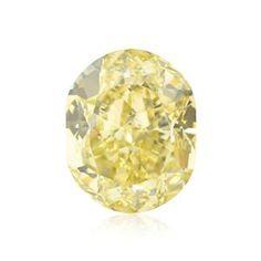 5.16 Carat Fancy Yellow Loose Diamond Natural Color Cushion Cut GIA Cert