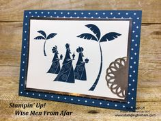 Stampin\' Up! Wise Men from Afar created by Kay Kalthoff with Stamping to Share. Includes How To Video! Easy and Elegant for Christmas. #stampingtoshare