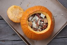 Project Domestication: Pumpkin Stuffed with Everything Good: A show-stopping Thanksgiving side!
