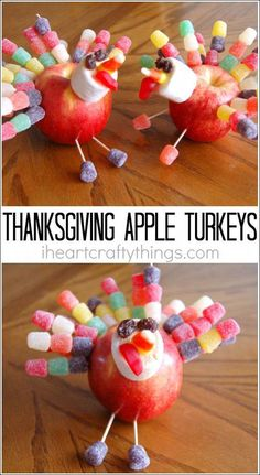 How to make this apple turkey craft on Thanksgiving for your children. Make this apple turkey craft on Thanksgiving as a fun family activity or beforehand for a Thanksgiving decoration. Fun Thanksgiving activity for kids. Thanksgiving Snacks, Thanksgiving Activities For Kids, Thanksgiving Crafts For Kids, Thanksgiving Decorations, Thanksgiving Turkey, Decorating For Thanksgiving, Thanksgiving Crafts For Kindergarten, Turkey Decorations, Thanksgiving Traditions