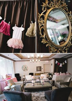 Sparkle and Tutus themed baby shower- love this