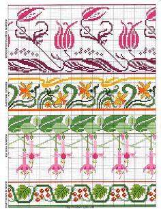 "Photo from album ""Cross Stitch Art Nouveau"" on Yandex. Cross Stitch Art, Cross Stitch Borders, Cross Stitch Flowers, Cross Stitch Designs, Cross Stitching, Cross Stitch Embroidery, Embroidery Patterns, Cross Stitch Patterns, Knitting Patterns"