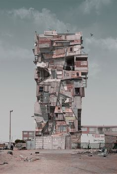 justin plunkett juxtaposes architectural environments for con/struct