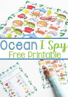 This ocean I Spy printable is a perfect counting activity for preschoolers. With this free printable, kids can practice counting, learn about ocean animals and work on language skills. Printable in Documents as Ocean Explorer I Spy Counting Activities For Preschoolers, Preschool Learning, Learning Activities, Preschool Activities, Teaching, Water Animals Preschool, Ocean Animals For Kids, Summer Themes For Preschool, Printable Activities For Kids
