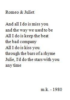 """Romeo & Juliet"" // Dire Straits"