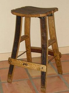 I'm in love with these wine cask stools!