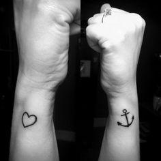 Anchor and heart. Love my sailor.