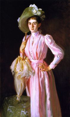 The Frick museum in New York has this lovely painting of Eleanor Brooks by  John Singer Sargent