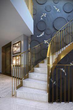 staircase | ballustrade | railing design | Victoria Gardens Penthouse – Shh