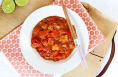 Duurzame Alaska viscurry met paprika en tomaat – SKINNY SIX