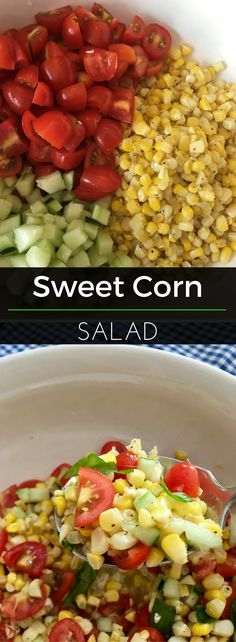 Salads don't have to be lettuce based. Proof: this Sweet Corn & Cherry Tomato Salad recipe. This is fresh, delicious and oh so nutritious! | Clearly Organic Nutritionist Corner #organic #eatclean #veggies #nutritionist