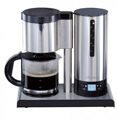 "Cloer Stainless Steel Coffee Maker 10 Cup  ""Temperature stabilization"" (Patented)"