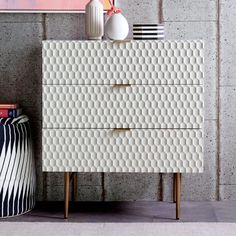west elm's modern bedroom furniture features sleek styles & clean lines. Find an assortment of contemporary bedroom furniture including nightstands, drawers & headboards. Online Furniture, Cool Furniture, Bedroom Furniture, Modern Furniture, Furniture Design, Bedroom Decor, Furniture Factory, Lacquer Furniture, Bedroom Night