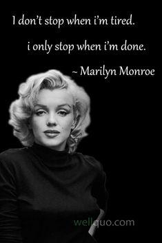 Famous Women Quotes, Classy Women Quotes, Empowering Women Quotes, Bio Instagram, Diva Quotes, Real Quotes, Marilyn Monroe Quotes, Baddie Quotes, Empowerment Quotes