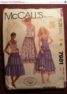 Uncut 1970's McCall's Sewing Pattern 7981 14 Bust by EarthToMarrs