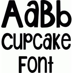 Silhouette Design Store - View Design #93964: lw cupcake font