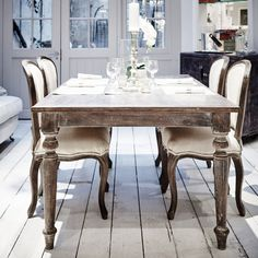 Breton Dining Table - Limed Large