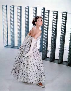 Audrey Hepburn in Funny Face (1957, Paramount)  Designer: Hubert de Givenchy