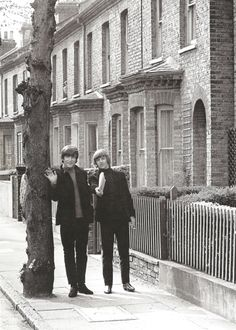 """what are you doing?"" "" posting a letter."" John and Ringo in help 1965"