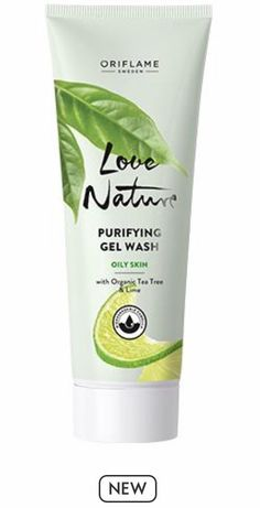 Purifying Gel Wash with Organic Tea Tree & Lime Tender Care Oriflame, Tea Tree Essential Oil, Essential Oils, Oriflame Beauty Products, Salicylic Acid, Organic Skin Care, Oily Skin, Biodegradable Products, Health And Beauty