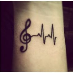 Pacemaker heartbeat tattoos ❤ liked on Polyvore featuring accessories, body art, tattoos, pictures and tatoos