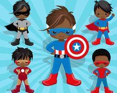 Imágenes Prediseñadas de disfraces de superhéroes y el paquete