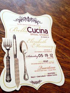 tuscan bridal shower ideas | Italian theme invites | Italian Bridal Shower for Brittany