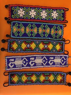 Huichol Indian beaded bracelet by etsybaymiss on Etsy Seed Bead Bracelets, Seed Beads, Native American Jewellery, Mexican Jewelry, Beading, Indian, Trending Outfits, Unique Jewelry, Handmade Gifts