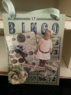 Altered vintage bingo card