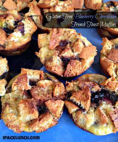 blueberry cheesecake french toast muffins The recipe is gluten free, but could be made with regular bread and different fruits, too.