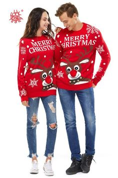 Unisex Womens Christmas Sweater Ugly Glitter Fairy Light Knitted Funny Pullover