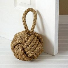 Twos Company Nautical Knot Door Stopper