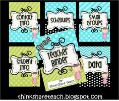 Editable teacher binder....everything is in here....FREE