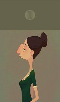 LaTorri L. | Soply | Hire LaTorri here: soply.com/torri   Big Nose  #illustration #characterdesign #animation #bignose #advertising #advertisingart