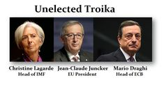 In Europe, not a single head of the Troika has EVER stood for election! The people dictating the lives and direction of Europe by forcing the euro down the throats of everyone NEVER present themselves for election. The European population has absolutely no chance to say these people are wrong or decide to vote them out. There is no democratic process and that is what, historically, leaves only one option — REVOLUTION. http://www.armstrongeconomics.com/archives/41912