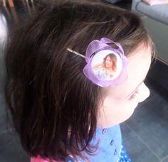 barrette Violetta ruban violet so chic : Accessoires coiffure par p-tite-coquette