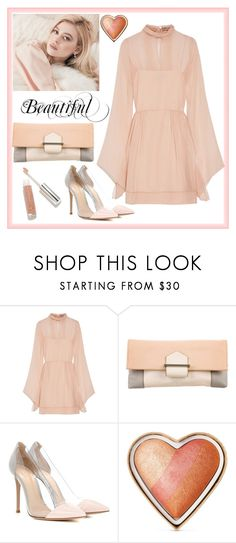 """Feeling Peachy"" by boutiquebrowser ❤ liked on Polyvore featuring Emilio Pucci, Reed Krakoff, Gianvito Rossi, Too Faced Cosmetics and Modern Minerals"