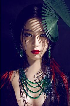: A wearable Geisha inspired Oriental makeup look, complete with a gorgeous Jade necklace. How beautiful is the model? *Disclaimer - I do not own this photo. Poses, Geisha Tattoos, Portrait Photography, Fashion Photography, Exotic Beauties, Jolie Photo, People Around The World, Pretty Face, Asian Beauty